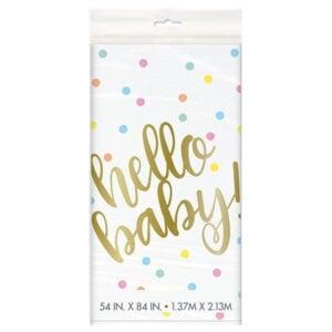 Tafelkleed Hello Baby Gender Reveal
